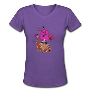 Women's Hoodie - Angry Freddy - Women's V-Neck T-Shirt