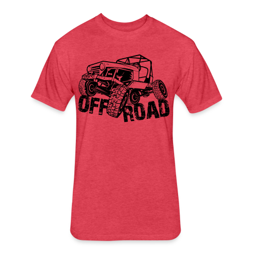 Off-Road 4x4 Jeep - Fitted Cotton/Poly T-Shirt by Next Level