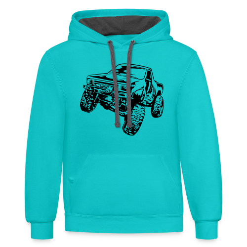 Rock Crawling Off-Road Truck Shirt - Contrast Hoodie