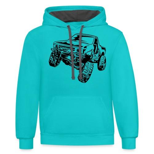Rock Crawling Off-Road Truck Shirt - Contrast Hoodie