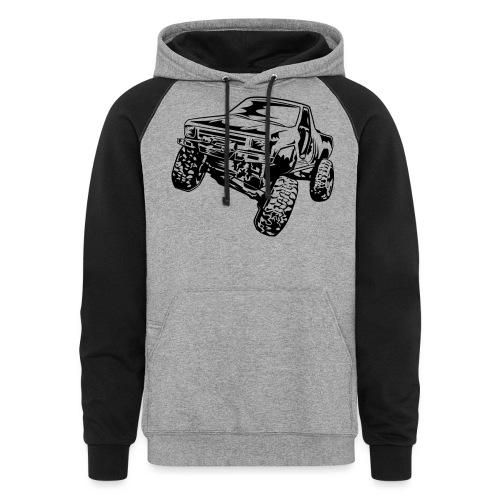 Rock Crawling Off-Road Truck Shirt - Colorblock Hoodie