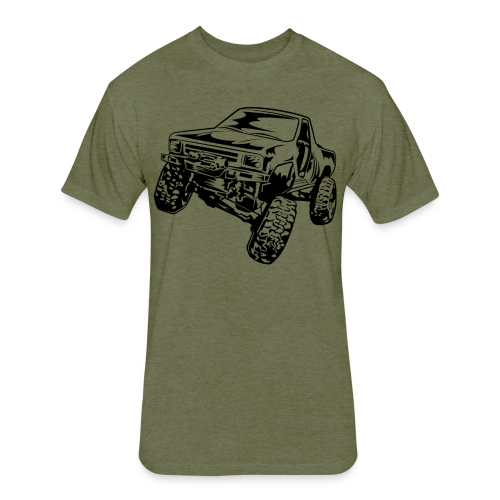 Rock Crawling Off-Road Truck Shirt - Fitted Cotton/Poly T-Shirt by Next Level