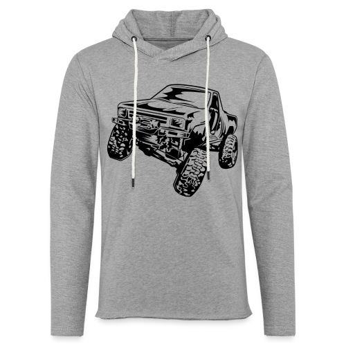 Rock Crawling Off-Road Truck Shirt - Unisex Lightweight Terry Hoodie