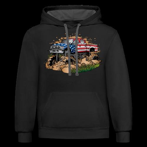Mud Truck USA - Contrast Hoodie
