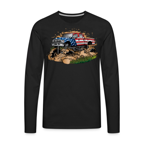 Mud Truck USA - Men's Premium Long Sleeve T-Shirt