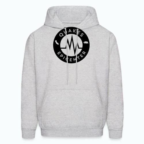Quakes Epicenter Logo Black - Mens Colorblock Hoodie - Men's Hoodie