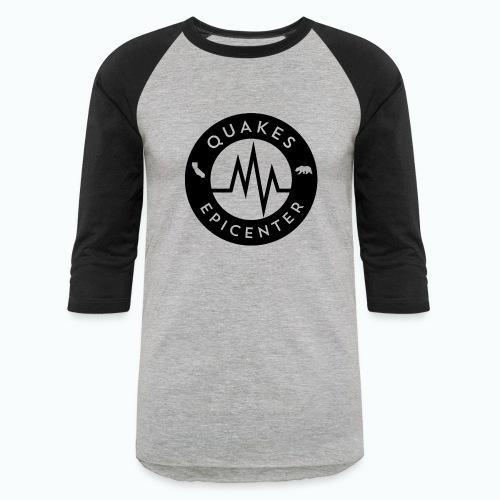 Quakes Epicenter Logo Black - Mens Colorblock Hoodie - Baseball T-Shirt