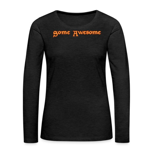 Some Awesome V-neck - Women's Premium Long Sleeve T-Shirt