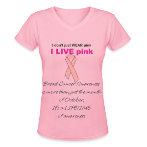 Womens Pink Is A Lifestyle Tshirt - Women's V-Neck T-Shirt