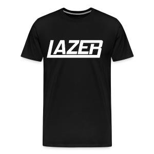 Lazer White Logo Hoodie - Men's Premium T-Shirt