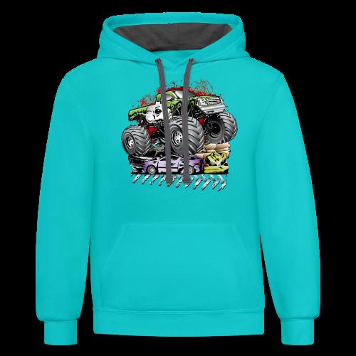 Mega Death Monster Truck - Contrast Hoodie