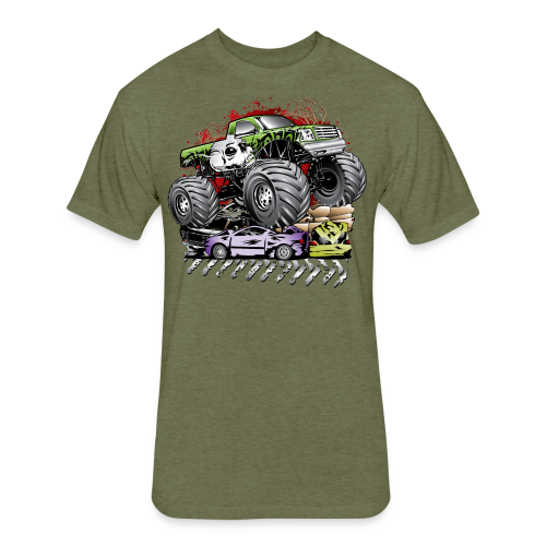 Mega Death Monster Truck - Fitted Cotton/Poly T-Shirt by Next Level