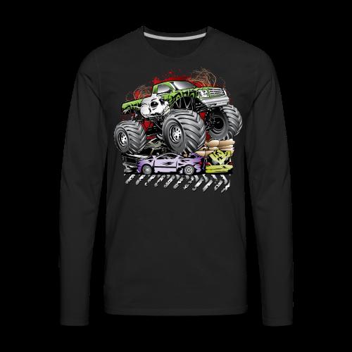 Mega Death Monster Truck - Men's Premium Long Sleeve T-Shirt