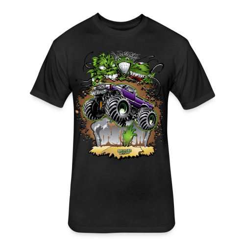 Ghoulish Monster Truck - Fitted Cotton/Poly T-Shirt by Next Level