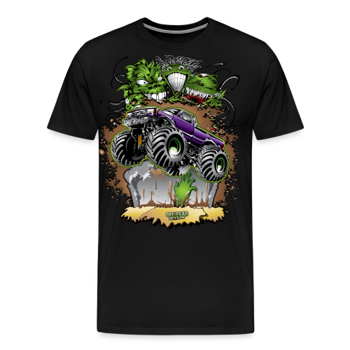 Ghoulish Monster Truck - Men's Premium T-Shirt