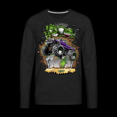 Ghoulish Monster Truck - Men's Premium Long Sleeve T-Shirt