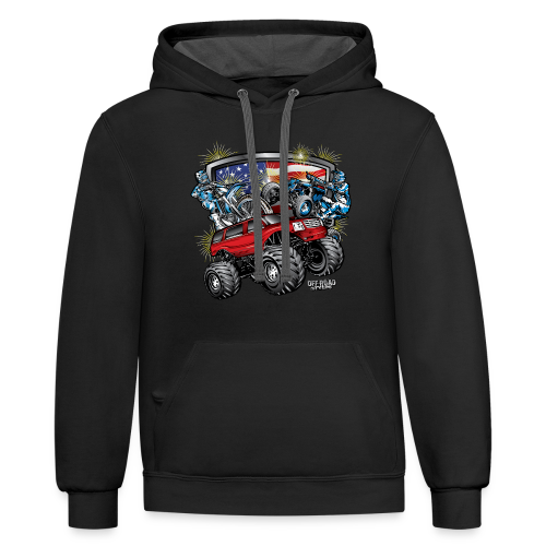4th of July Monster - Contrast Hoodie