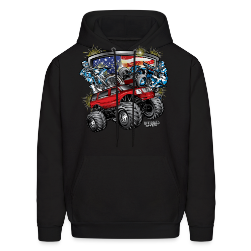 4th of July Monster - Men's Hoodie