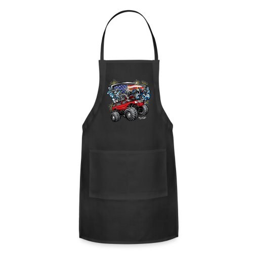 4th of July Monster - Adjustable Apron