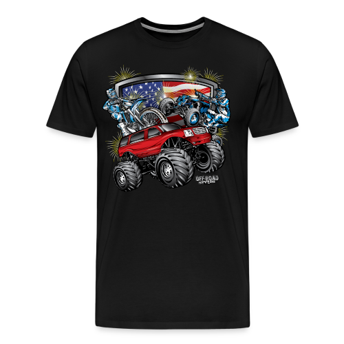 4th of July Monster - Men's Premium T-Shirt
