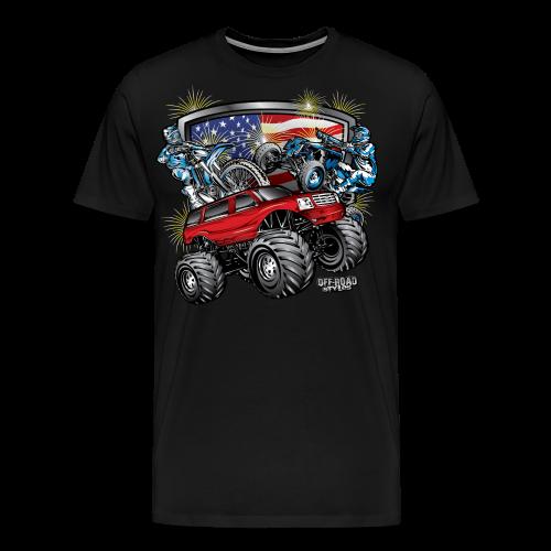 4th of July Monster - Men's Premium T-Shirt