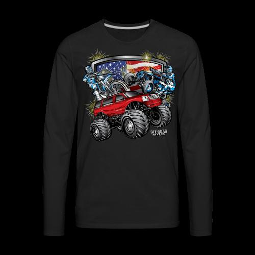 4th of July Monster - Men's Premium Long Sleeve T-Shirt