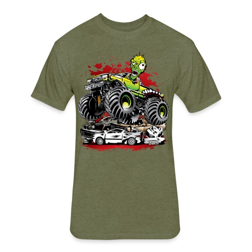 Monster Truck Ghoul - Fitted Cotton/Poly T-Shirt by Next Level