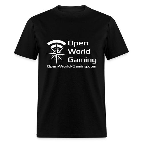 Open World Gaming Men's Logo White - Men's T-Shirt