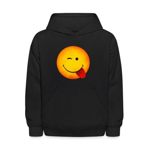 Silly Wink Emoji Kid's T-Shirt - Kids' Hoodie