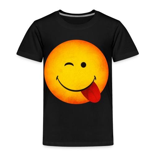 Silly Wink Emoji Kid's T-Shirt - Toddler Premium T-Shirt