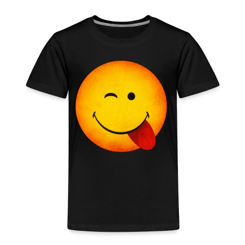 Silly Wink Emoji Kid's T-Shirt - Toddler Premium T-Shirt