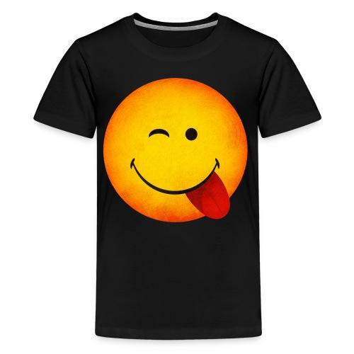 Silly Wink Emoji Kid's T-Shirt - Kids' Premium T-Shirt