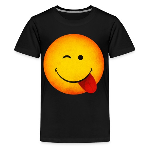 Silly Wink Emoji Kid's T-Shirt - Kids' Premium T-Shirt