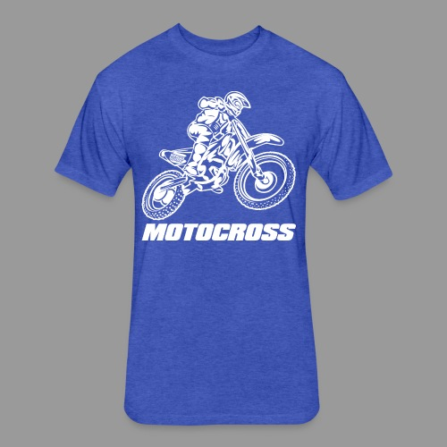 Motocross Yamaha - Fitted Cotton/Poly T-Shirt by Next Level
