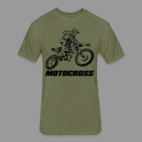 Motocross Kawasaki - Fitted Cotton/Poly T-Shirt by Next Level