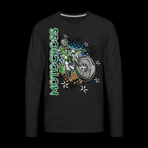 Motocross Kawasaki - Men's Premium Long Sleeve T-Shirt