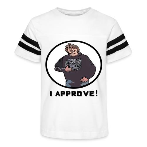 Nissen approves Black (no background) - Kid's Vintage Sport T-Shirt