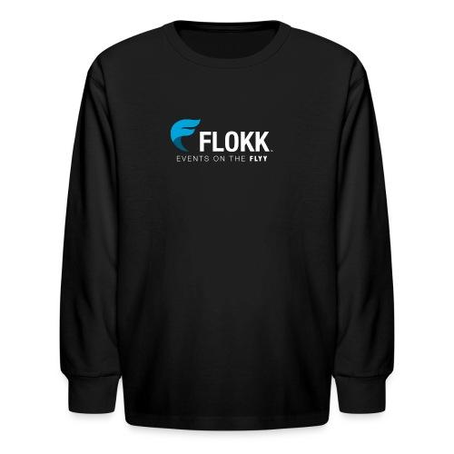 Men's Black Flokk Premium T-Shirt - Kids' Long Sleeve T-Shirt