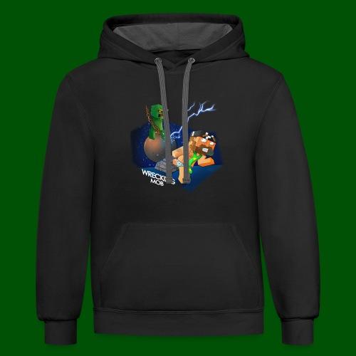 Wrecking Mob Men's T-Shirt - Contrast Hoodie