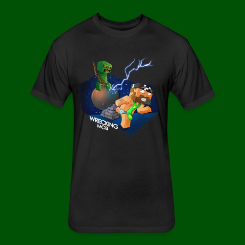 Wrecking Mob Men's T-Shirt - Fitted Cotton/Poly T-Shirt by Next Level