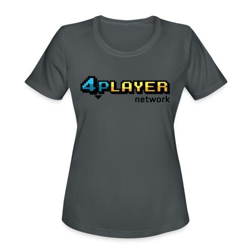 4PlayerNetwork Logo Women's T Shirt - Women's Moisture Wicking Performance T-Shirt
