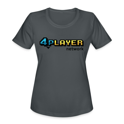 4PlayerNetwork Logo Women's T Shirt - Women's Moisture Wicking Performance T-Shirt