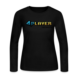 4PlayerNetwork Logo Women's T Shirt - Women's Long Sleeve Jersey T-Shirt