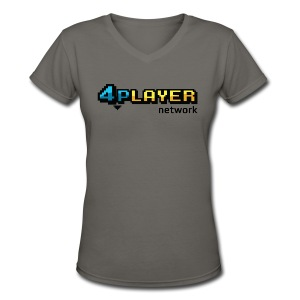 4PlayerNetwork Logo Women's T Shirt - Women's V-Neck T-Shirt