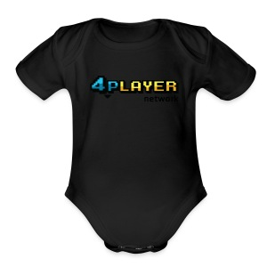 4PlayerNetwork Logo Women's T Shirt - Short Sleeve Baby Bodysuit