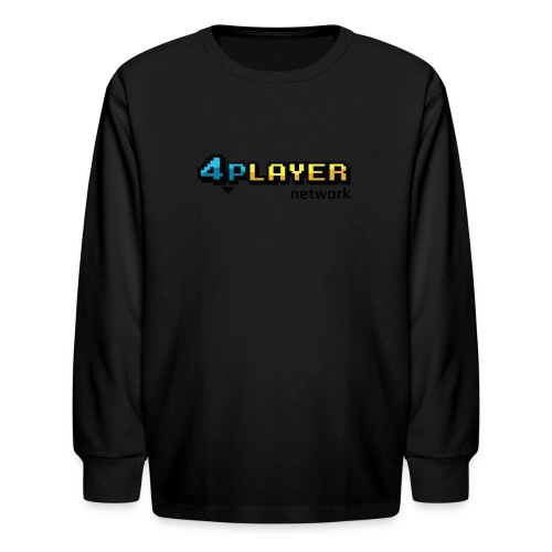 4PlayerNetwork Logo Women's T Shirt - Kids' Long Sleeve T-Shirt