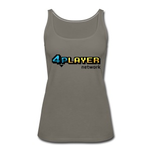 4PlayerNetwork Logo Women's T Shirt - Women's Premium Tank Top