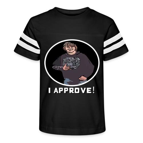 Nissen approves White (black background) - Kid's Vintage Sport T-Shirt