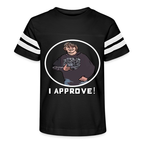 Nissen Approves White (no background) - Kid's Vintage Sport T-Shirt