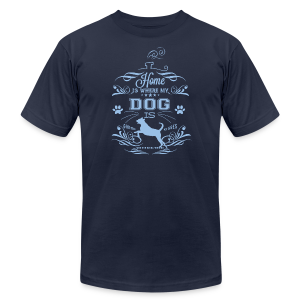 Home_Dog - Men's T-Shirt by American Apparel